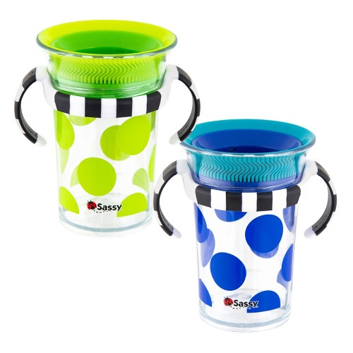 Sassy 7oz Tritan Trainer Cup 2pk, Blue