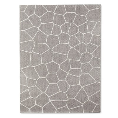 Outdoor Rug 5'x7' Gray - Modern by Dwell Magazine