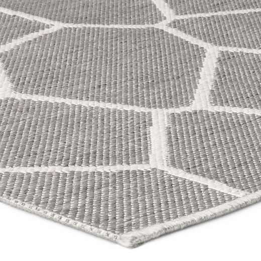 outdoor rug 5'x7' gray - modern by dwell magazine : target