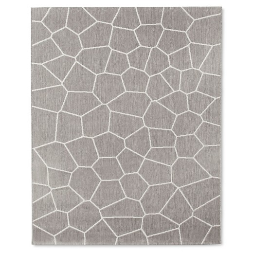 outdoor rug 8'x10' gray - modern by dwell magazine : target