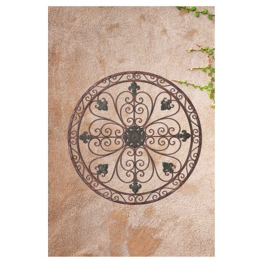 Target Star Wall Decor : Quot french garden metal wall decor brown sunjoy target