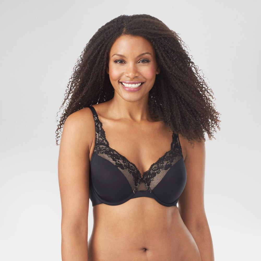 Simply Perfect by Warners Womens Super Soft Underwire with Lift Bra RF7961T - Black 42DD