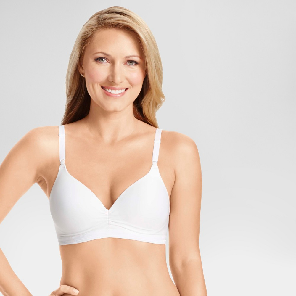 Simply Perfect by Warners Womens Cooling Wire-Free with Lift Bra RN3281T - White 34C
