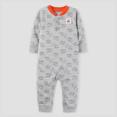 Baby Boys' Trucks Coverall - Just One You™ Made by Carter's® Gray NB