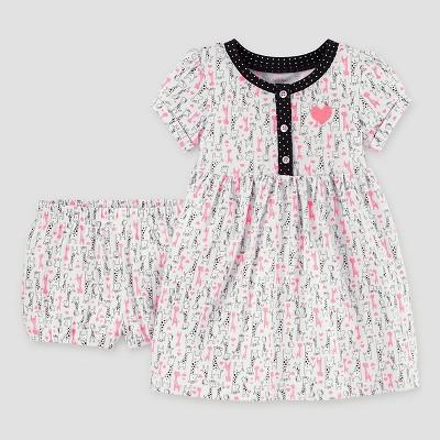 Baby Girls' Giraffe Print Dress - Just One You™ Made by Carter's® NB