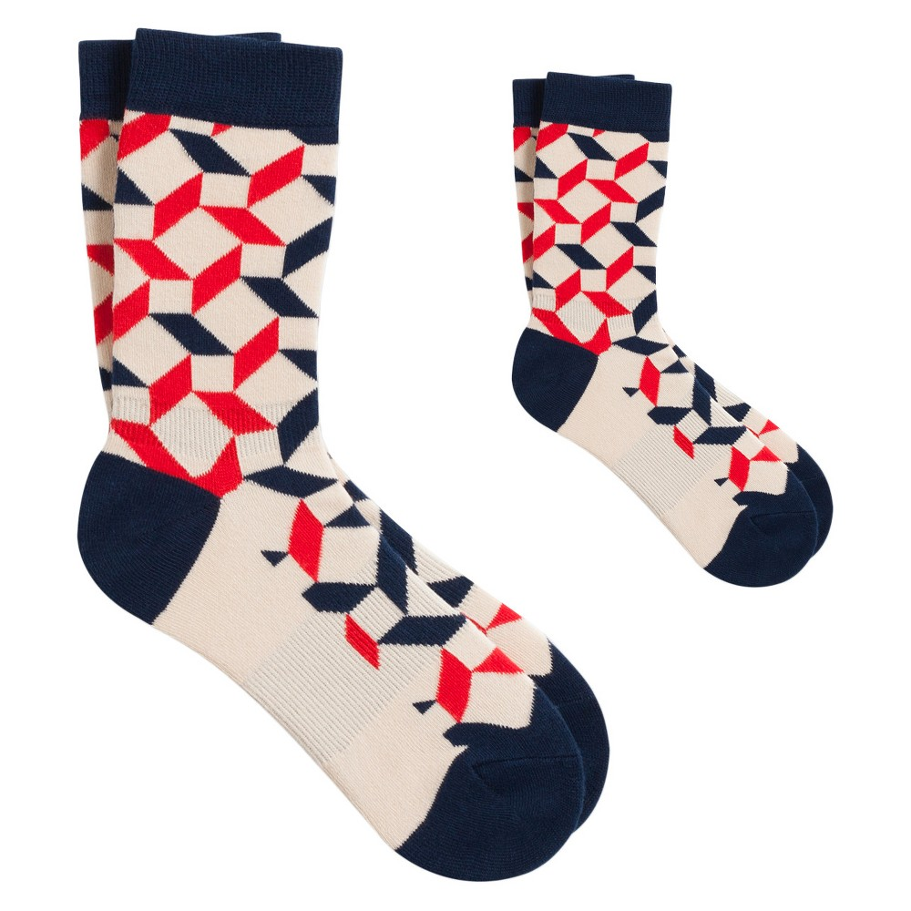 Thieves in a Temple Mom + Kid Sock Set M - Pair of Thieves, Kids Unisex, Blue Red