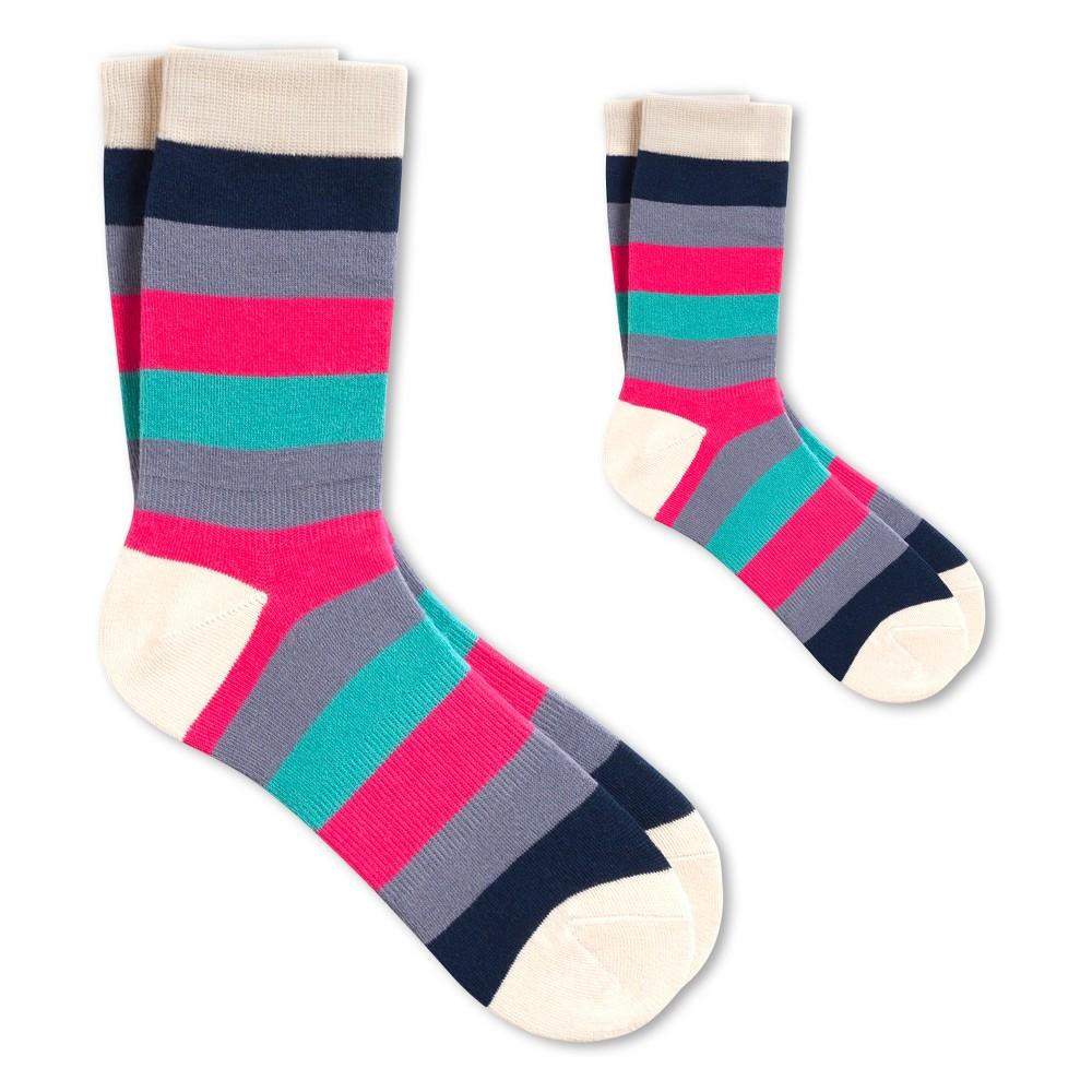 You Got The Look Mom + Kid Sock Set M - Pair of Thieves, Kids Unisex, Blue Pink
