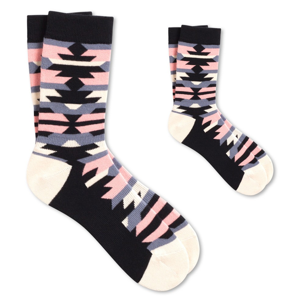 Controversy Mom + Kid Sock Set M - Pair of Thieves, Kids Unisex, Blue Gray Pink