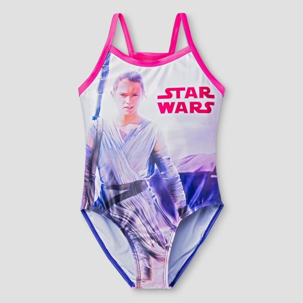 Star Wars Girls One Piece Swimsuit L - Pink