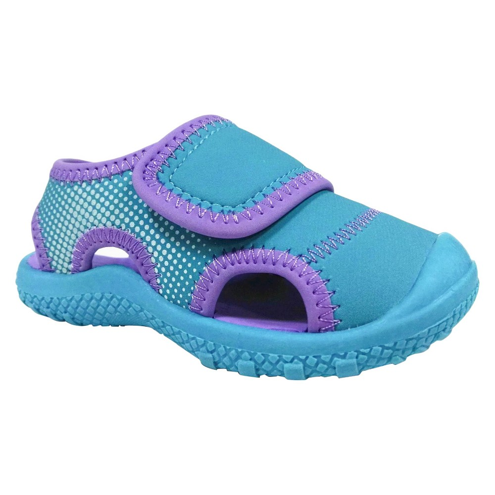 Toddler Girls Water Shoes - Cat & Jack - Turquoise L (9-10), Size: L 9-10, Blue