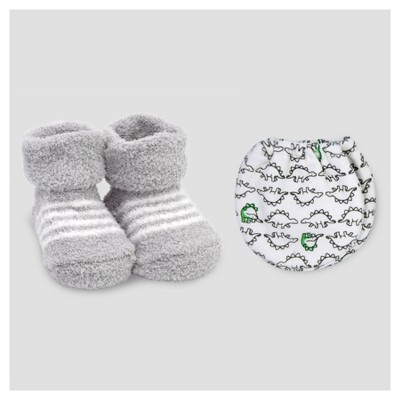 Baby Boys' Mitten and Bootie Set Gray/White NB - Precious Firsts™ Made by Carter's®