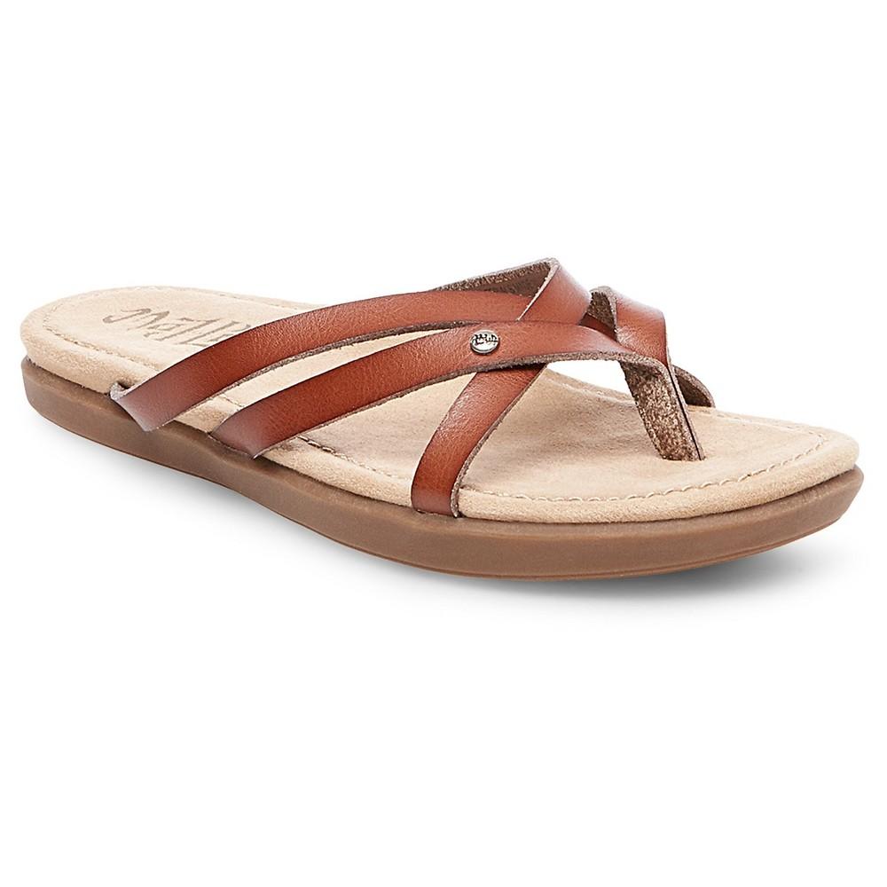 Womens Mad Love Nellie Huarache Sandals - Cognac (Red) 6