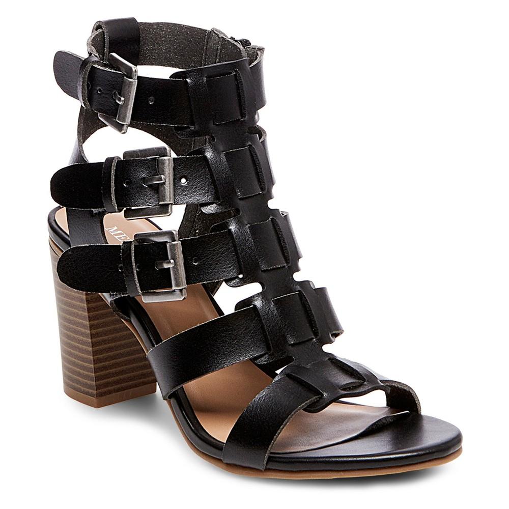 Womens Cassandra Buckle Heel Sandal Pumps - Merona Black 6.5