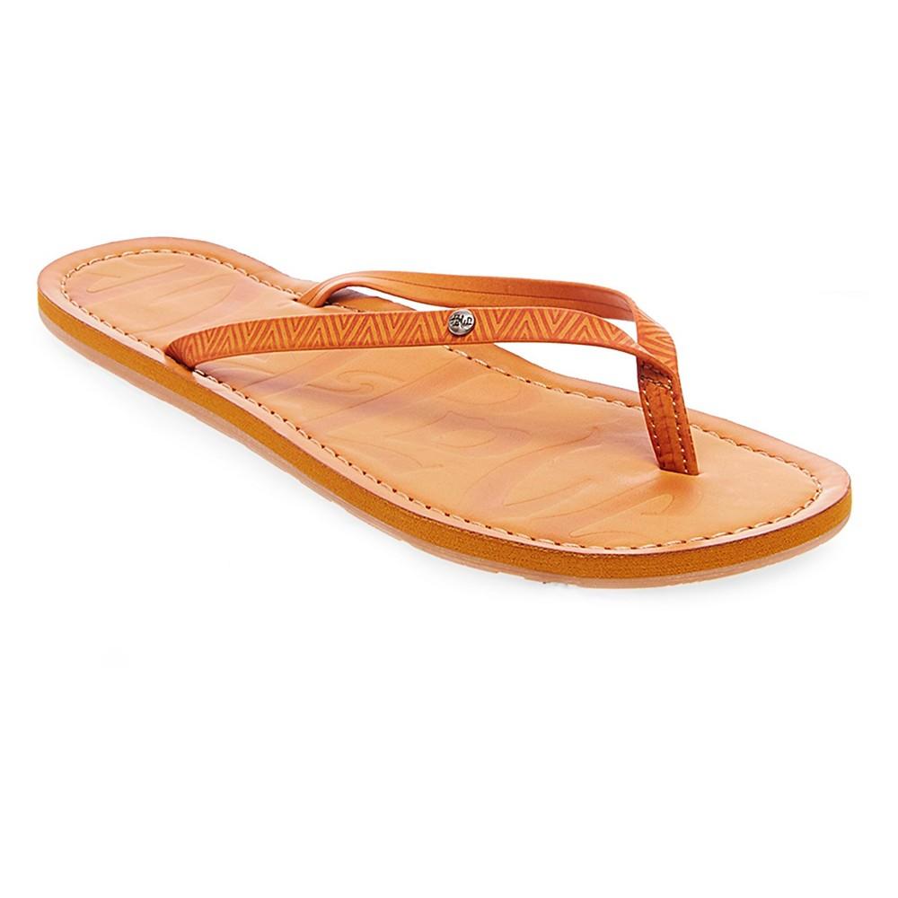 Womens Mad Love Liannie Flip Flop Sandals - Cognac (Red) 11