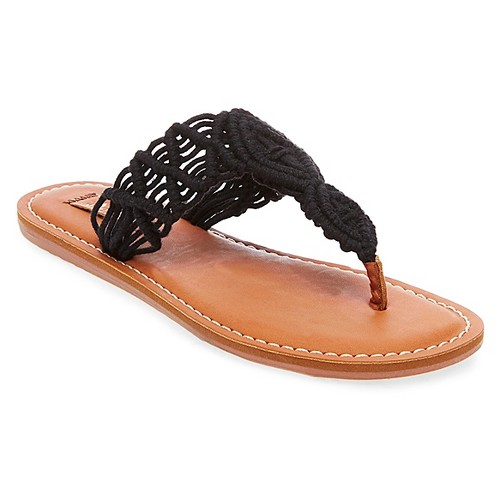 Women's Mad Love Lee Thong Sandals - Black 9
