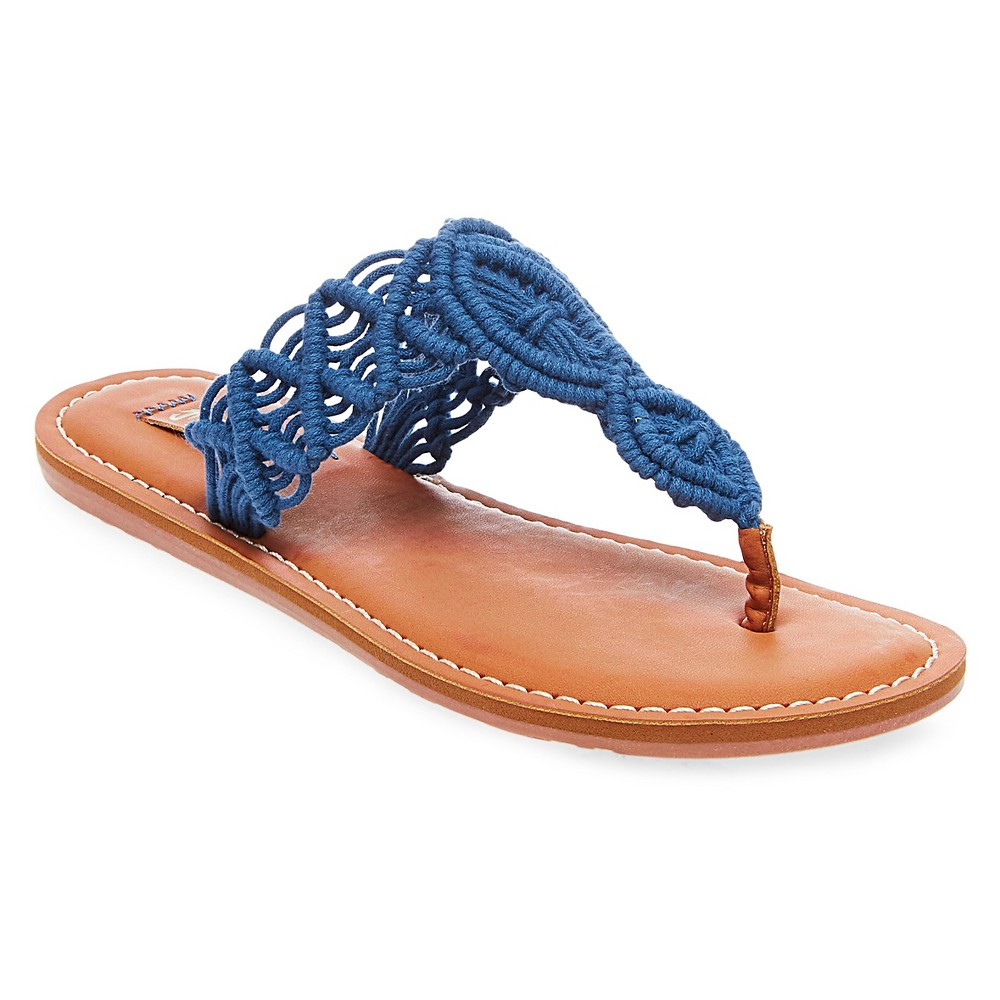 Womens Mad Love Lee Thong Sandals - Blue 10