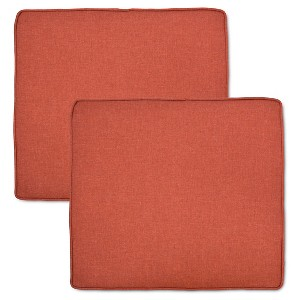 Halsted 2-pk. Outdoor Arm Dining Chair Cushion Set - Orange - Threshold