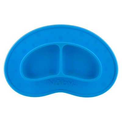 Nuby Silicone Sectioned Feeding Mat Blue