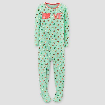 Just One You™ Made by Carter's® Baby Girls' One Piece Snug Fit Cotton Pajama Love - 9M