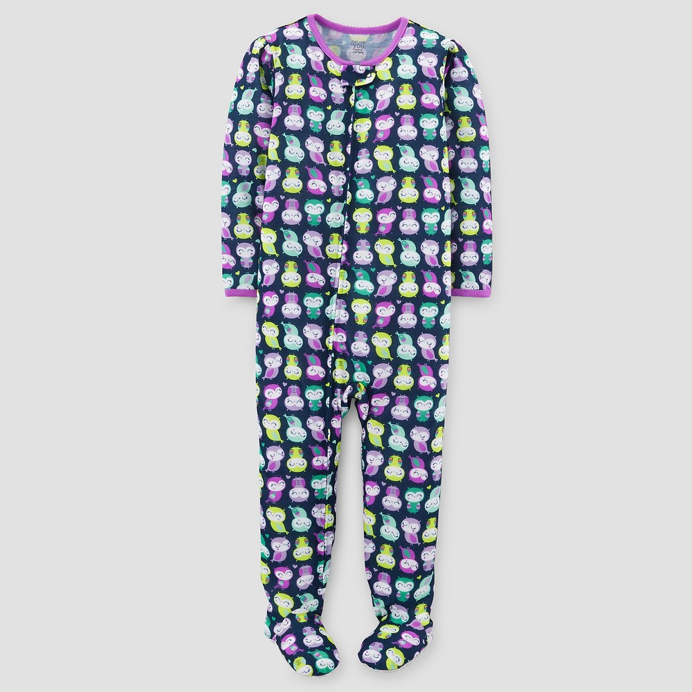 Baby Girls' One-Piece Jersey Pajama Owls 9M – Just One You Made by Carter's, Infant Girl's, Purple