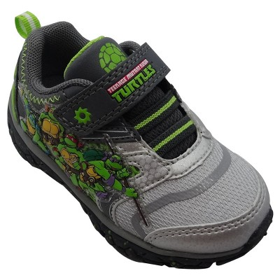 Teenage Mutant Ninja Turtles Toddler Boys' Athletic Sneakers - Gray 6