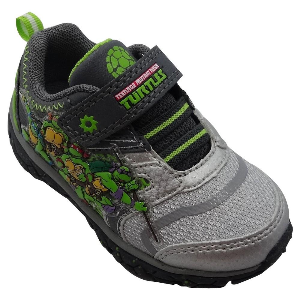 Teenage Mutant Ninja Turtles Toddler Boys Athletic Sneakers - Gray 6