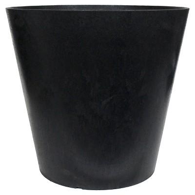 11  Recycled Round Planter, Black - Smith & Hawken™