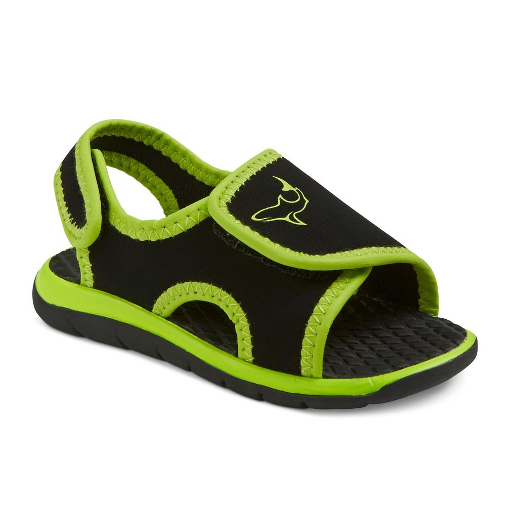 Toddler Boys Charlie Open Covered Footbed Sandals Cat & Jack - New Lime XL, Green