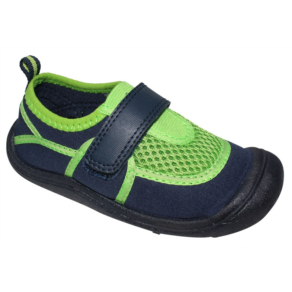 Toddler Boys Duke Water Shoes Cat & Jack - Blue/Green L, Blue Green
