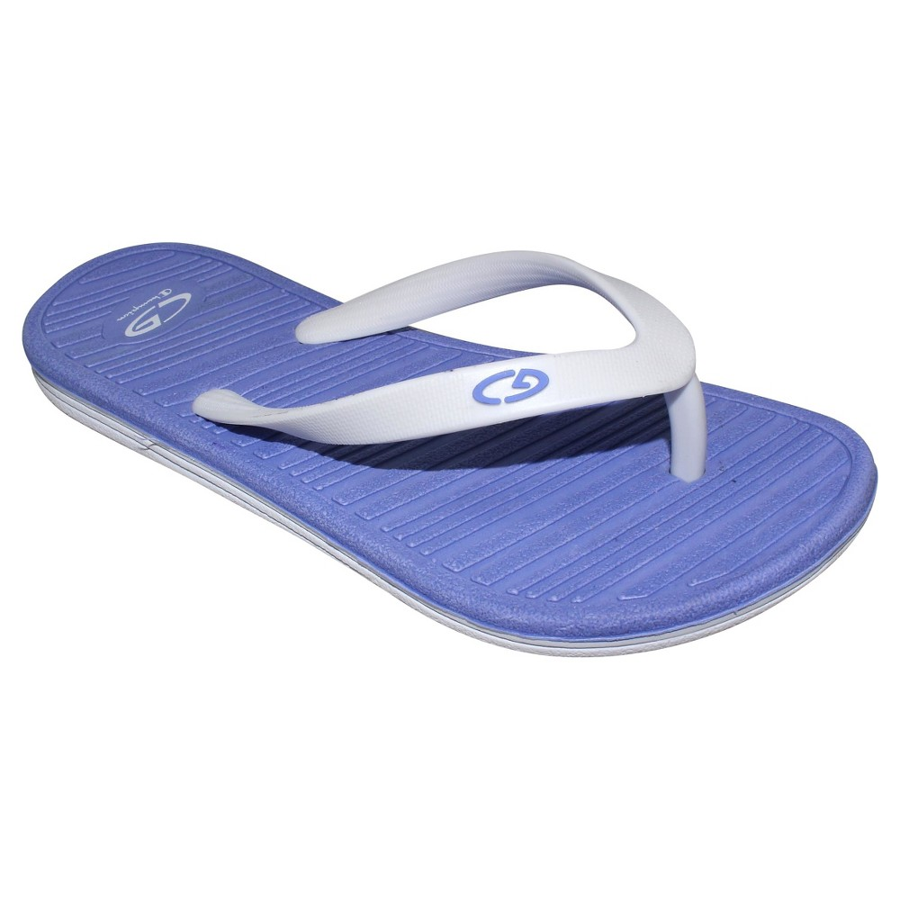 Girls Nikka Sport Flip Flop Sandals Periwinkle - C9 Champion - Blue M, Periwinkle Blue