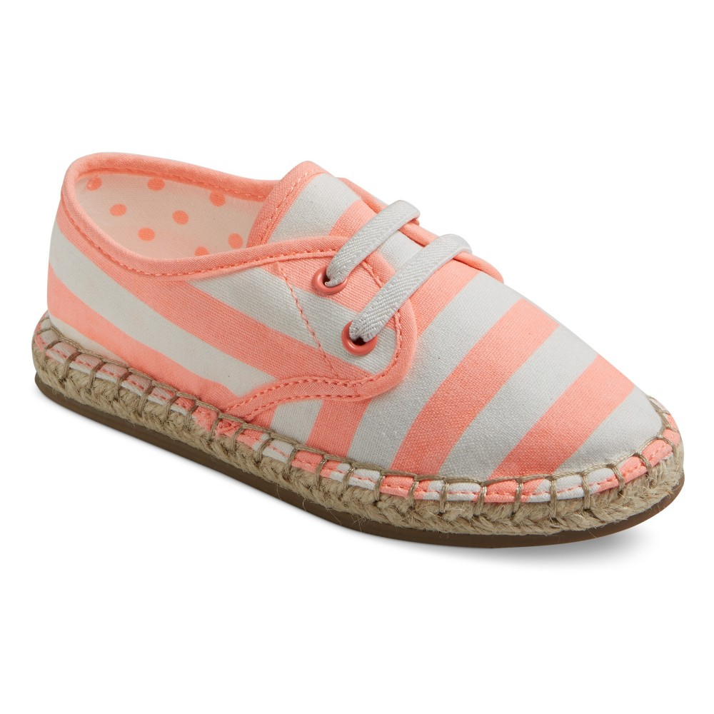 Toddler Girls Vallon Slip On Striped Espadrilles Cat & Jack - Coral 11, Pink