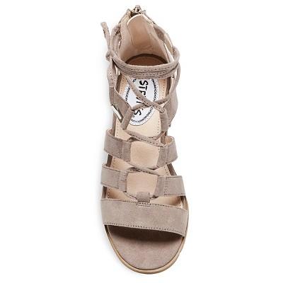 Girls' Stevies #glamour Block Heel Ghillie Sandal - Stone 2, Girl's, White
