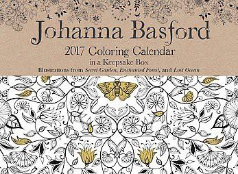 Johanna Basford 2017 Coloring Calendar Paperback Target