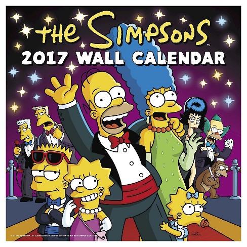 Simpsons 2017 Calendar (Paperback) - image 1 of 2
