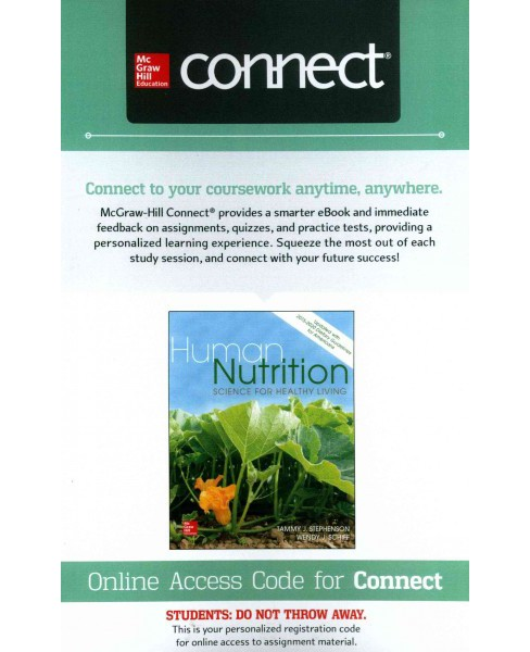 Human Nutrition Access Card : Science for Healthy Living (Updated) (Hardcover) (Tammy J. Stephenson) - image 1 of 1