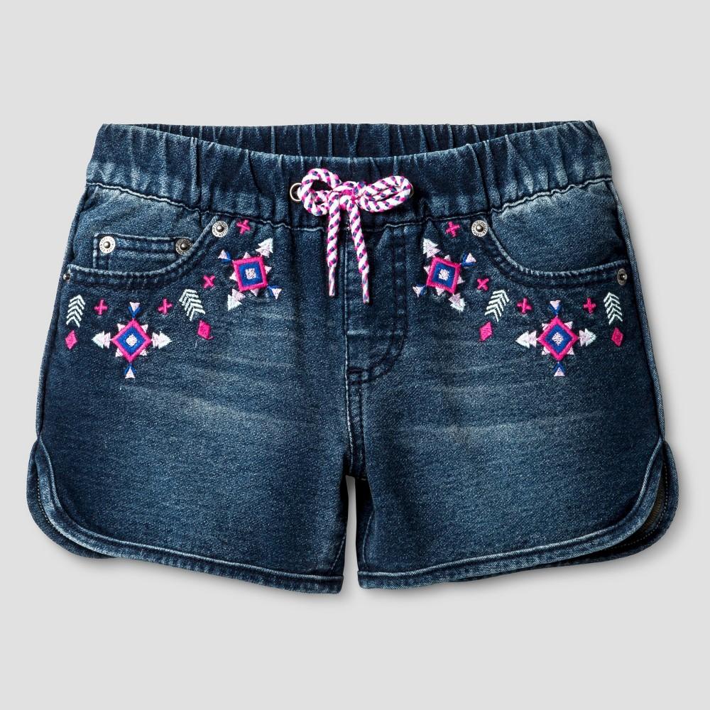 Plus Size Girls Fashion Shorts - Cat & Jack Dark Denim Wash M Plus, Blue