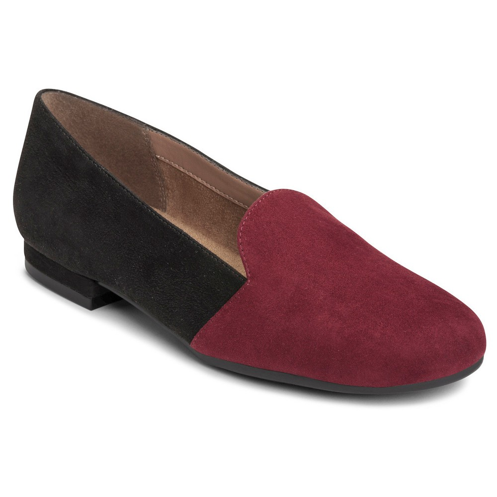 Retro Vintage Flats and Low Heel Shoes A2 by Aerosoles Good Call Loafers - Wine Red 11 $49.99 AT vintagedancer.com