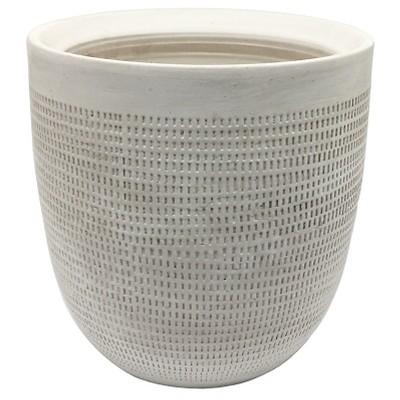 12  Ceramic Planter, White - Threshold™