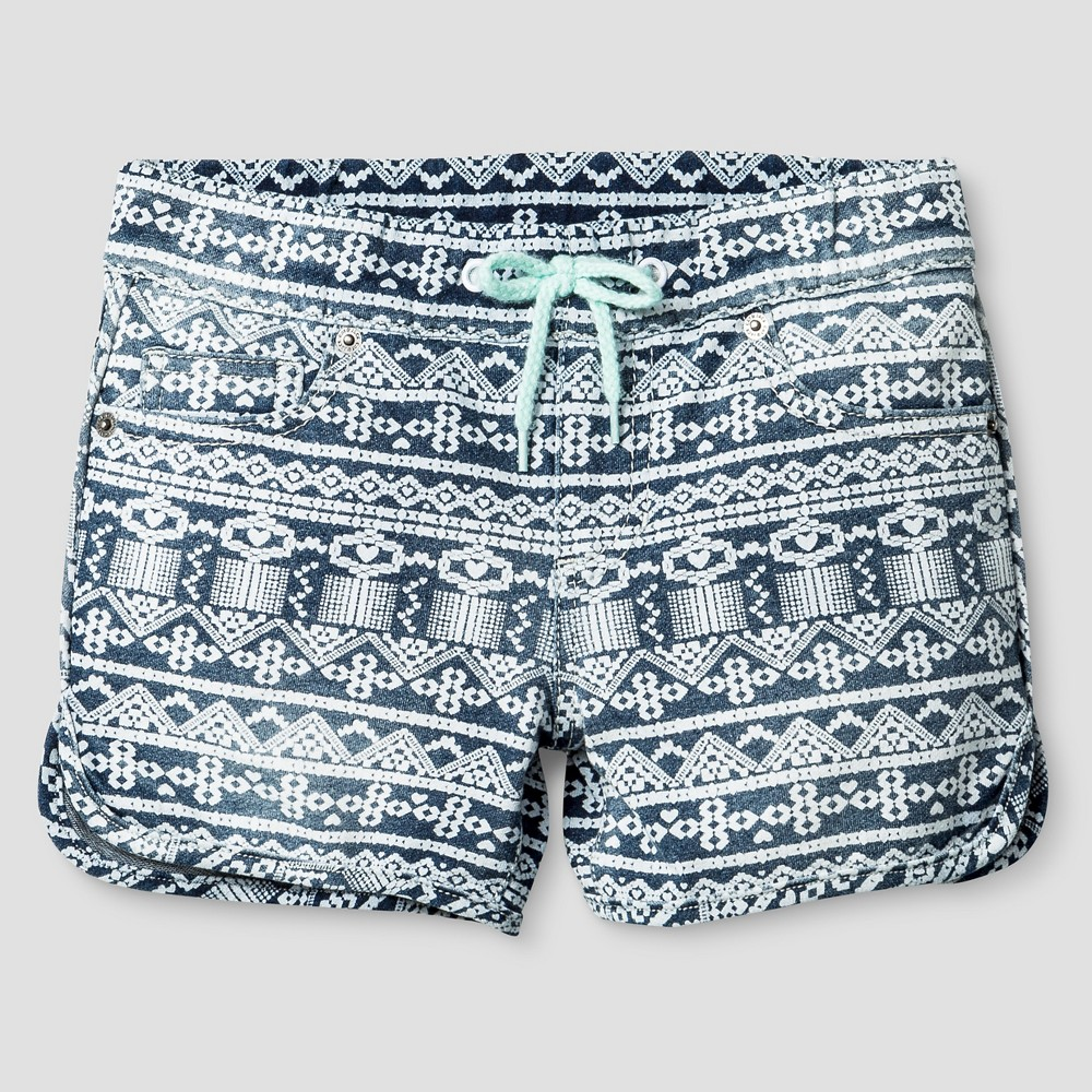 Girls Fashion Shorts - Cat & Jack Medium Denim Wash XL, Blue