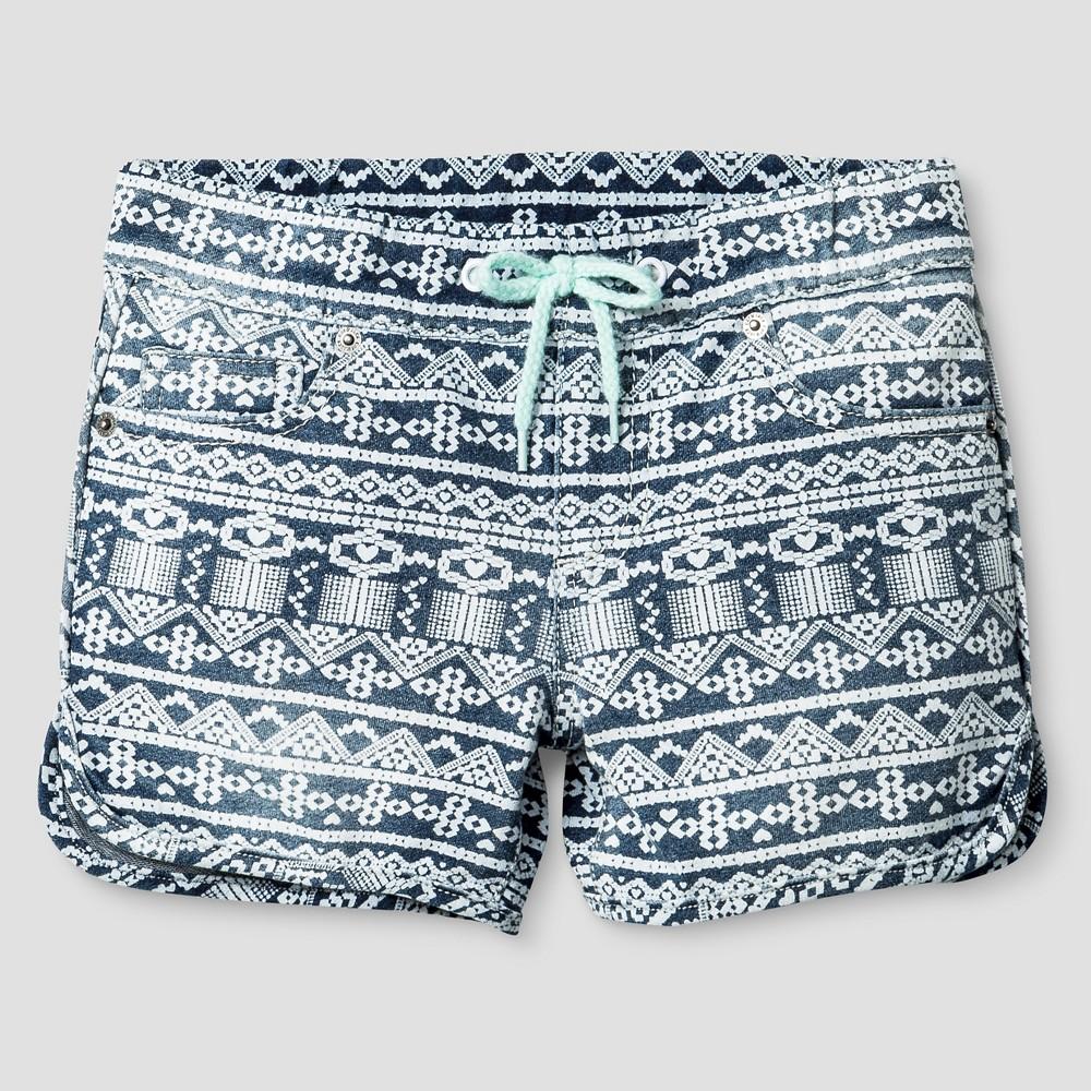Girls Fashion Shorts - Cat & Jack Medium Denim Wash XS, Blue