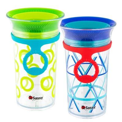 Sassy 9oz Tritan Sippy Cup 2pk