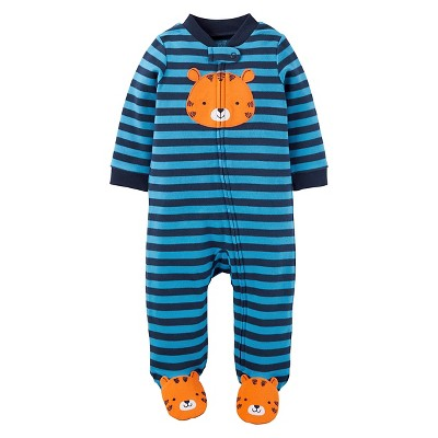 Baby Boys' Bear Cotton Sleep N' Play - Just One You™ Made by Carter's® Blue Stripe 6M