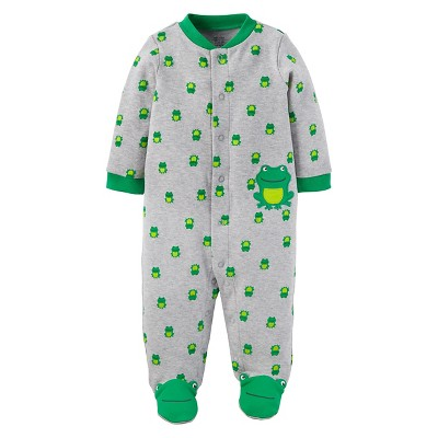 Baby Boys' Frog Cotton Sleep N' Play - Just One You™ Made by Carter's® Gray NB