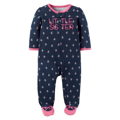 Baby Girls' Cotton Little Sister Sleep N' Play - Just One You™ Made by Carter's® Navy 6M