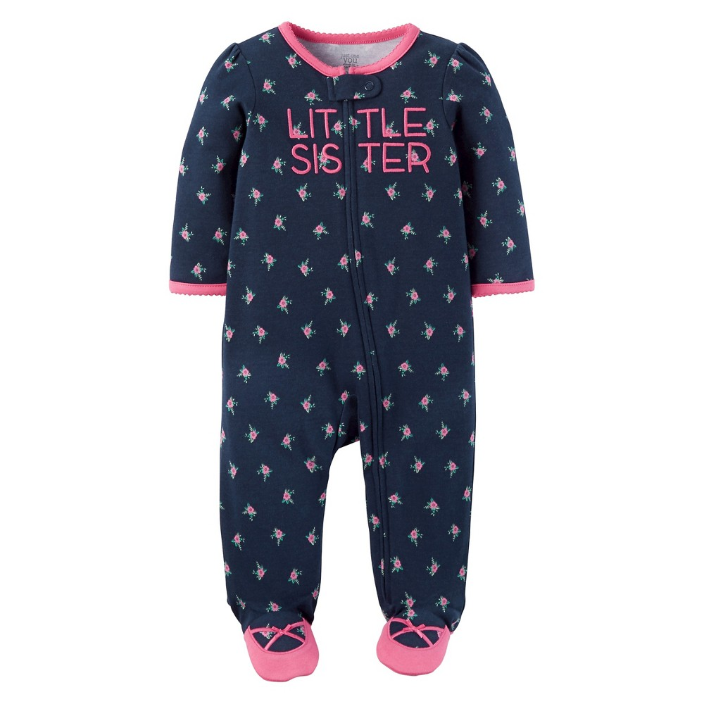 Baby Girls Cotton Little Sister Sleep N Play - Just One You Made by Carters Navy 6M, Size: 6 M, Blue