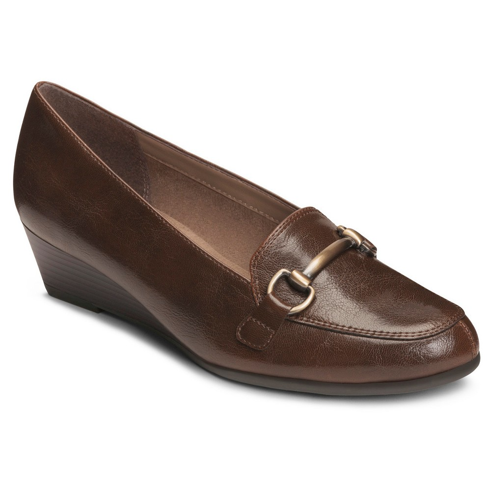 Womens A2 by Aerosoles Wide Width Love Spell Loafers - Brown 6W, Size: 6 Wide