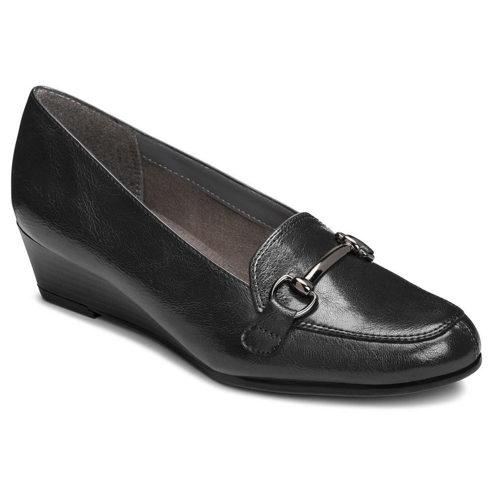 Womens A2 by Aerosoles Wide Width Love Spell Loafers - Black 12W, Size: 12 Wide