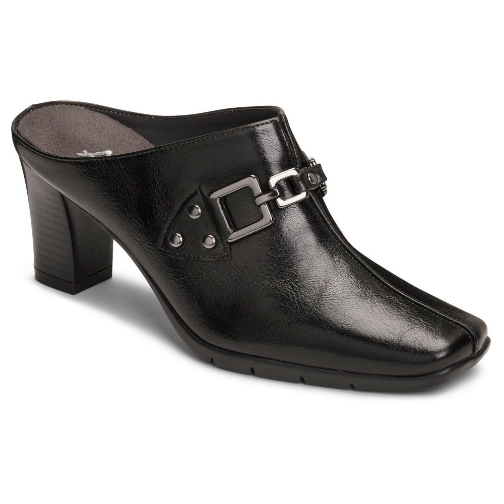 Womens A2 by Aerosoles Matrimony Mules - Black 5