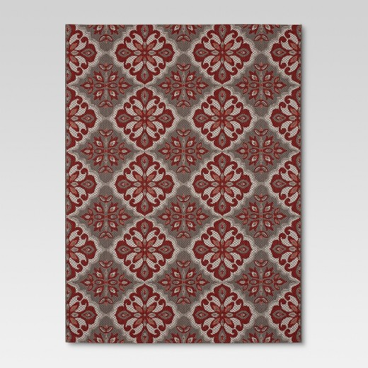 Outdoor Rug Mosaic Red Threshold Target