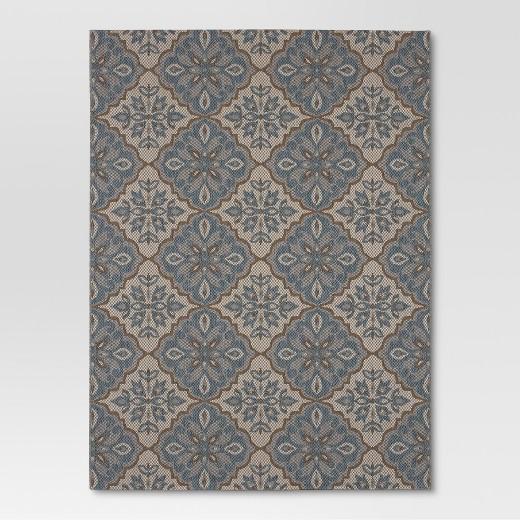 Outdoor Rug Mosaic Blue Threshold Tar